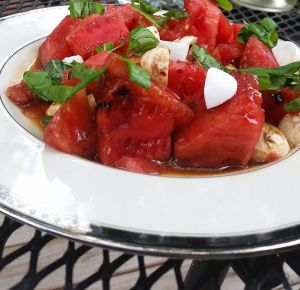 watermelon and mozzarella salad