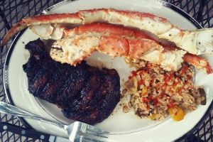 Surf n Turf - Ribeye and King Crab