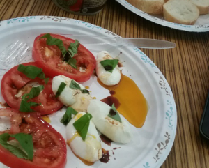 tomatoes and mozzarella